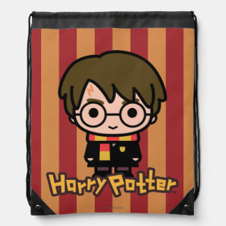 Harry Potter Cartoon Character Art Drawstring Bag