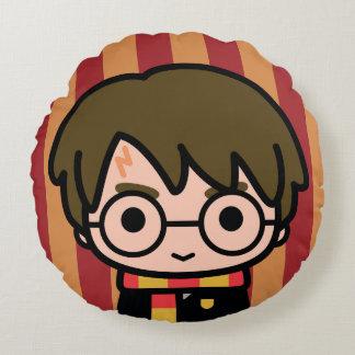 Harry Potter Cartoon Character Art Round Cushion