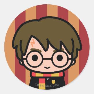 Harry Potter Cartoon Character Art Round Sticker