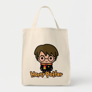 Harry Potter Cartoon Character Art Tote Bag