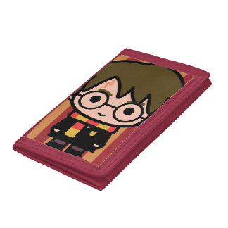 Harry Potter Cartoon Character Art Tri-fold Wallet