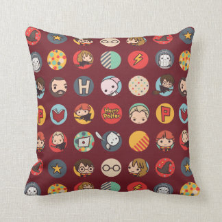Harry Potter Cartoon Icons Pattern Cushion