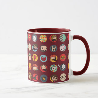 Harry Potter Cartoon Icons Pattern Mug