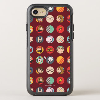 Harry Potter Cartoon Icons Pattern OtterBox Symmetry iPhone 8/7 Case