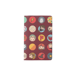 Harry Potter Cartoon Icons Pattern Pocket Moleskine Notebook