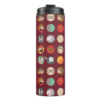 Harry Potter Cartoon Icons Pattern Thermal Tumbler