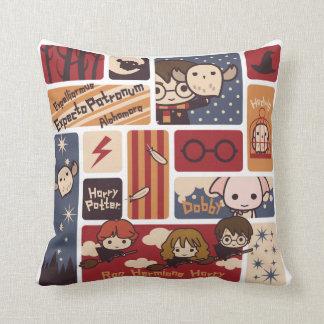 Harry Potter Cartoon Scenes Pattern Cushion