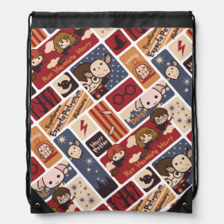 Harry Potter Cartoon Scenes Pattern Drawstring Bag