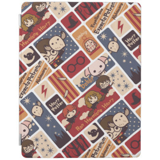 Harry Potter Cartoon Scenes Pattern iPad Cover