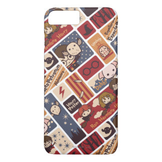 Harry Potter Cartoon Scenes Pattern iPhone 8 Plus/7 Plus Case