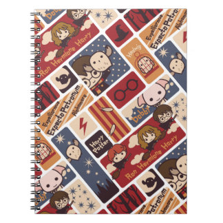 Harry Potter Cartoon Scenes Pattern Notebooks
