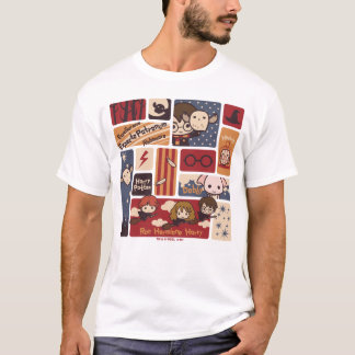 Harry Potter Cartoon Scenes Pattern T-Shirt