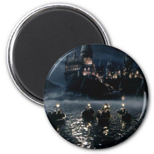 Harry Potter Castle   Arrival at Hogwarts 6 Cm Round Magnet