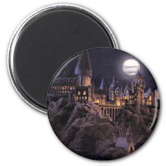 Harry Potter Castle | Great Lake to Hogwarts 6 Cm Round Magnet