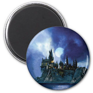 Harry Potter Castle   Hogwarts at Night 6 Cm Round Magnet