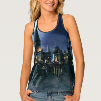 Harry Potter Castle | Moonlit Hogwarts Tank Top