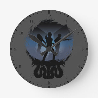 Harry Potter | Chamber of Secrets Silhouette Round Clock