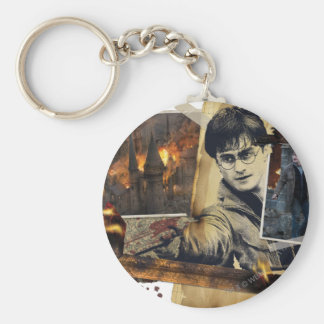 Harry Potter Collage 7 Basic Round Button Key Ring