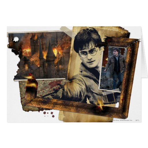 Harry Potter Collage 7 Greeting Card