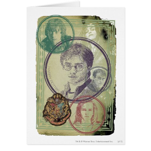 Harry Potter Collage 9 Greeting Cards