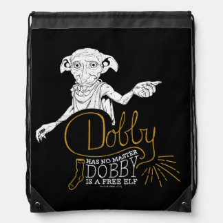Harry Potter | Dobby Has No Master Drawstring Bag