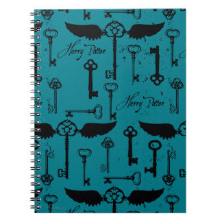 HARRY POTTER™ Flying Keys Pattern Notebooks