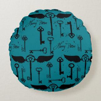 HARRY POTTER™ Flying Keys Pattern Round Cushion