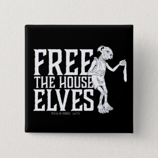 Harry Potter | Free The House Elves 15 Cm Square Badge