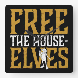 Harry Potter | Free The House Elves Square Wall Clock