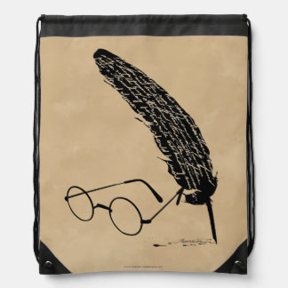 Harry Potter | Glasses And Quill Drawstring Bag