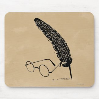 Harry Potter | Glasses And Quill Mouse Mat