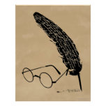 HARRY POTTER™ Glasses And Quill Poster