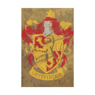 Harry Potter | Gryffindor Crest Blue Canvas Print
