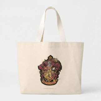 Harry Potter   Gryffindor Crest - Destroyed Large Tote Bag