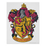 Harry Potter | Gryffindor Crest Gold and Red Poster