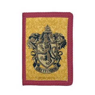 Harry Potter | Gryffindor Crest Gold and Red Tri-fold Wallet