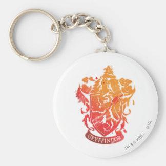Harry Potter   Gryffindor Crest - Splattered Key Ring