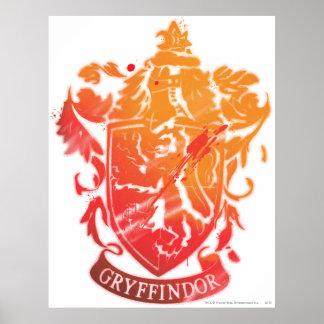 Harry Potter | Gryffindor Crest - Splattered Poster