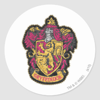 Harry Potter | Gryffindor House Crest Classic Round Sticker