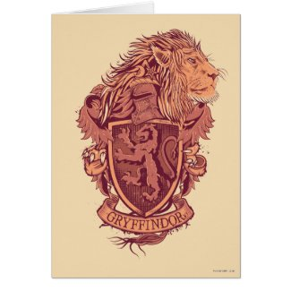 Harry Potter | Gryffindor Lion Crest Card