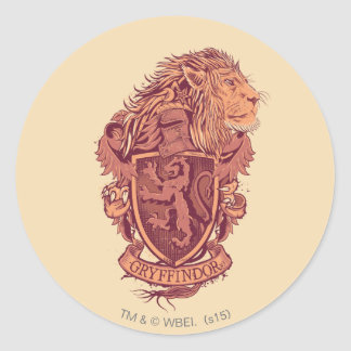 Harry Potter | Gryffindor Lion Crest Classic Round Sticker