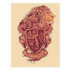 Harry Potter   Gryffindor Lion Crest Postcard
