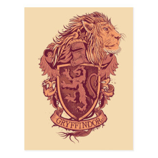 Harry Potter | Gryffindor Lion Crest Postcard