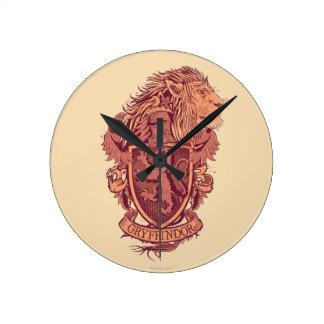 Harry Potter | Gryffindor Lion Crest Round Clock