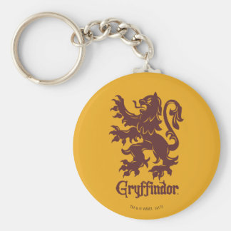 Harry Potter   Gryffindor Lion Graphic Key Ring