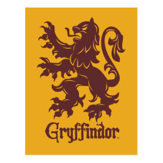 Harry Potter | Gryffindor Lion Graphic Postcard