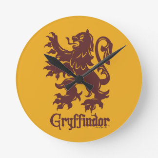 Harry Potter | Gryffindor Lion Graphic Round Clock