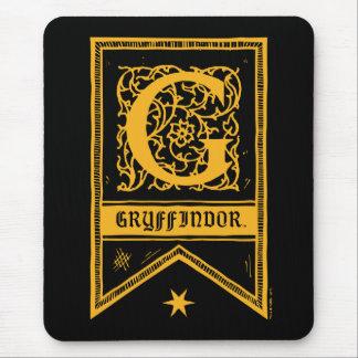 Harry Potter | Gryffindor Monogram Banner Mouse Mat