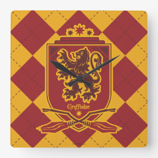 Harry Potter | Gryffindor QUIDDITCH™  Crest Square Wall Clock
