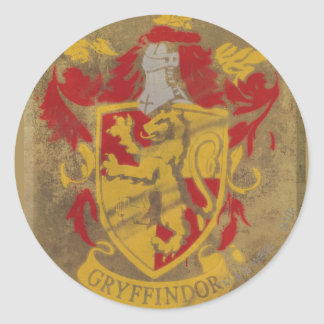Harry Potter | Gryffindor - Retro House Crest Classic Round Sticker